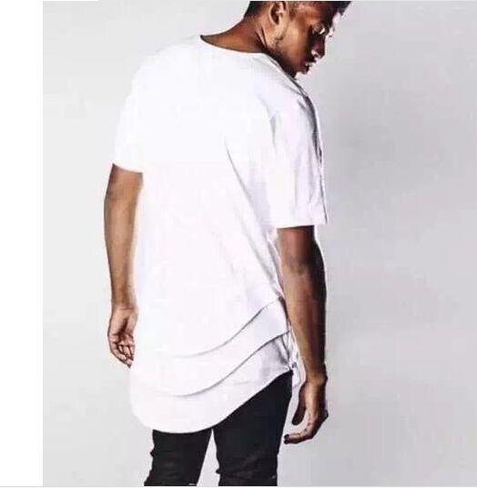 Extended T Shirt Hip Hop Streetwear
