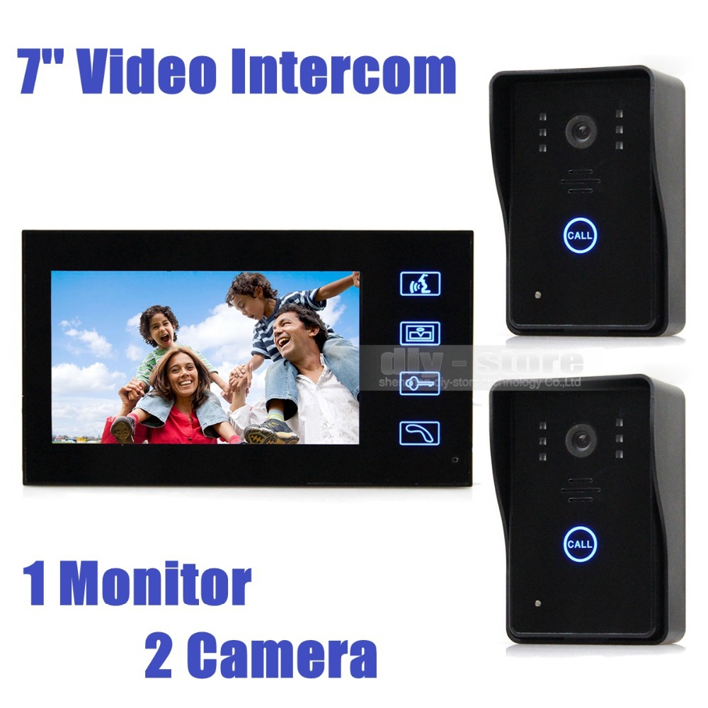 Wired Video Door Phone Doorbell Touch Key 7inch Lcd Video With Ir Camera Home Intercom 2V1 SY806MJ21<br><br>Aliexpress