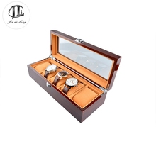 High Quality Luxury Solid Wood Rosewood Watch Box 5 Grids Watch Case Watch Display Packaging Gift Box for Watches(China (Mainland))