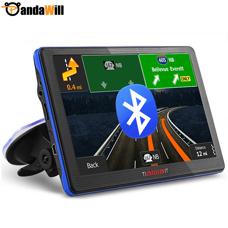 "7"" Car gps navigation Bluetooth Avin Built-in 8G 256MB 800Mhz Europe/USA/ Russia Navitel Navigator Sat Nav Free Map Update(China (Mainland))"