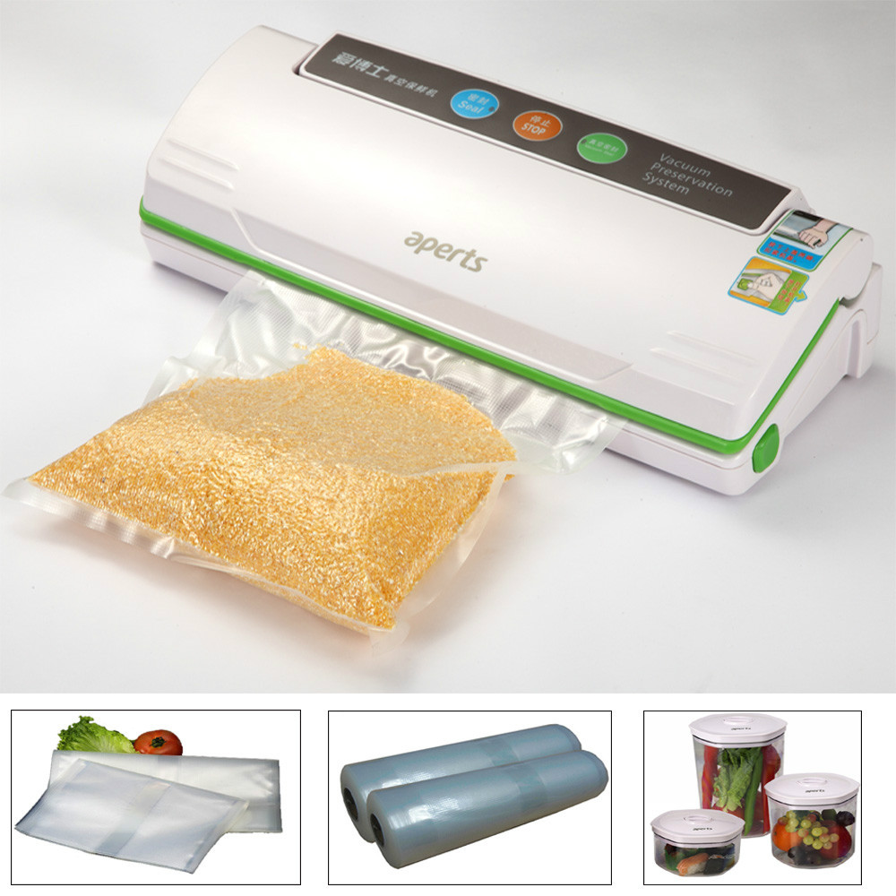 High quality Household Food Saver Vacuum Sealer Kits, Free gift Roll Bag Canister,one key full automatically(China (Mainland))