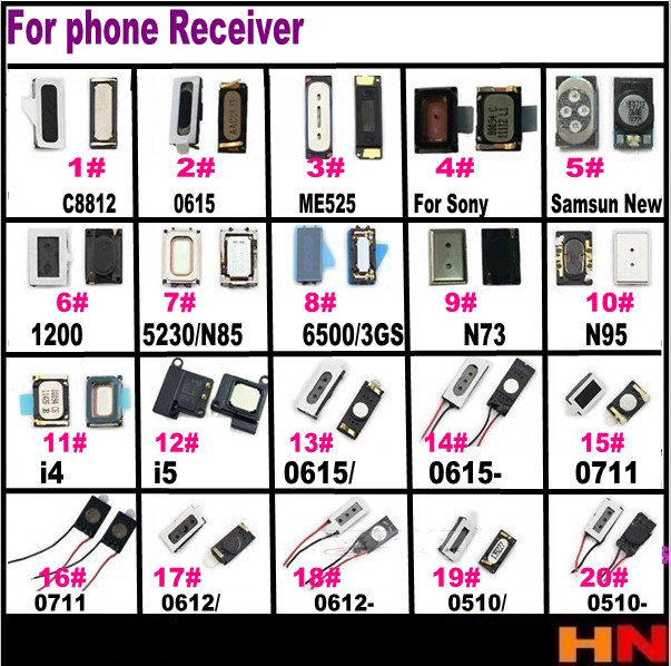 1pcs Receiver for iphone of mobile phone handset for HUAWEI Lenovo for Samsung smartphone for ZTE for HTC for NOKIA millet phone(China (Mainland))
