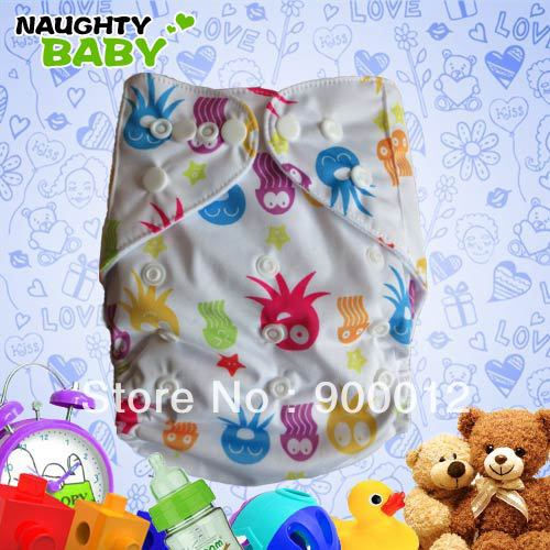 Free Shipping Ajustable Cloth Diapers Nappies Leak-proof Nappy with PUL Baby Cloth Nappy 10 Diaper Covers+10 Microfiber Inserts