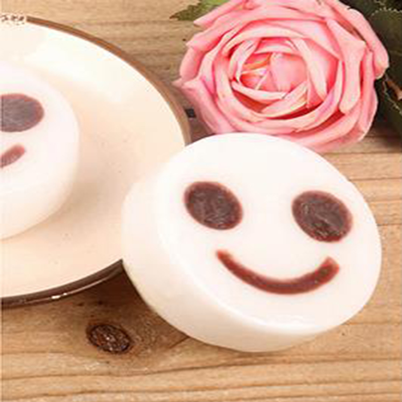 The new minimalist fashion creative smiley face whitening cream 93g cleaning cream natural skin care bath soap General(China (Mainland))