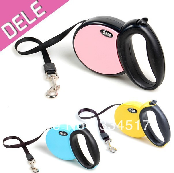 Free shipping automatic pet retractable dog leash automatic traction rope dog leash 5 m / 4 m / 3 m(China (Mainland))