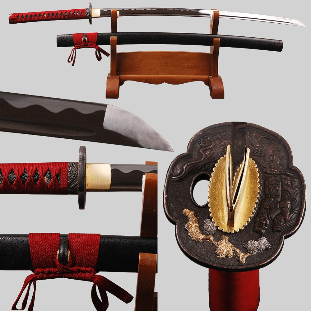 Special Offer Delicate Home Metal Decoration Japanese Samurai Sword Katana High Carbon Steel Blade Practical Sharp Knife(China (Mainland))