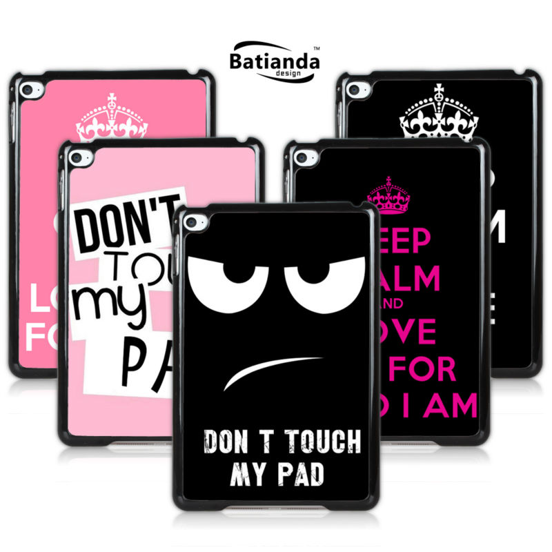 Best Selling Don't Touch MY Pad Hard Case For Ipad Mini 1 Mini2 Love Me Forever PC skin back Cover for Ipad Mini 3(China (Mainland))