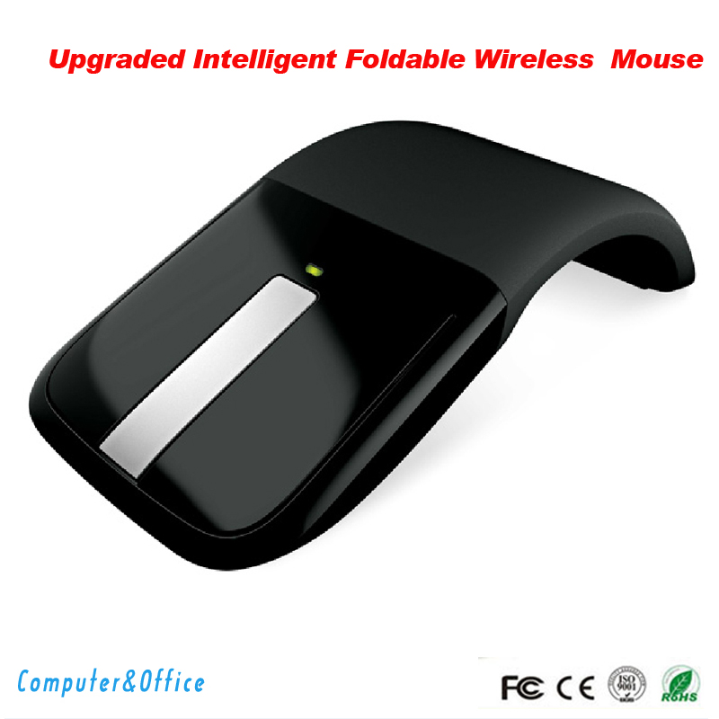 Free Shipping mouse 2.4Ghz flexional Foldable Wireless Computer Mouse Folding Arc Touch Mouse fold mouse Microsoft(China (Mainland))