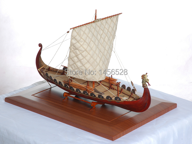 Classic wooden scale sailing boat wood scale ship 1/50 Viking ships scale assembly model ship ...