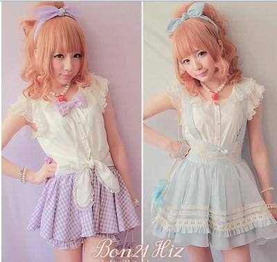 Princess sweet lolita blouse BoBON21 exclusive original design beautiful lace butterfly sleeve Rabbit ear T1026 lace-up shirtОдежда и ак�е��уары<br><br><br>Aliexpress