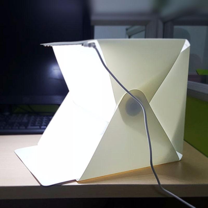 מיני נייד מתקפל סטודיו Softbox סטודיו לצילום Softbox עם USB LED אור שולחן העבודה שחור לבן רקע VCZ54 T15 0.3