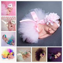 12 Colors Newborn Photography Props Lovely Infant Costume Outfit Princess Tutu Skirt Matching Headband Baby Photography Props(China (Mainland))