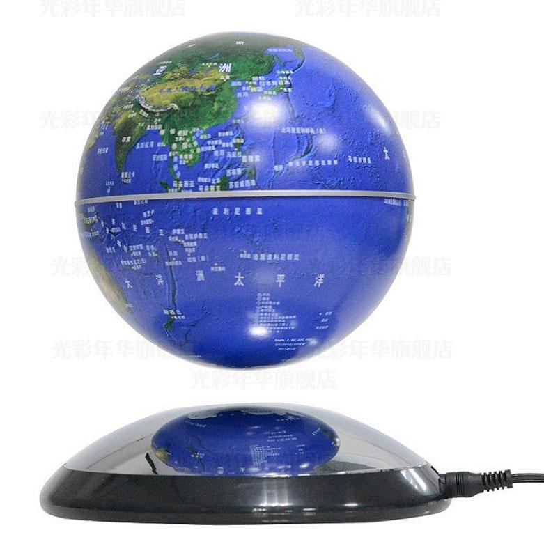 Magnetic levitation globe crafts desk decoration birthday gift(China (Mainland))