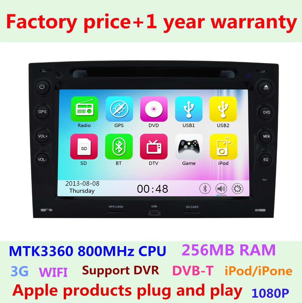Touch Screen Car DVD Player GPS Navigation System Renault Megane 2 ii 2003-2008 3G WIFI Bluetooth IPOD Radio Central Multimedia(China (Mainland))