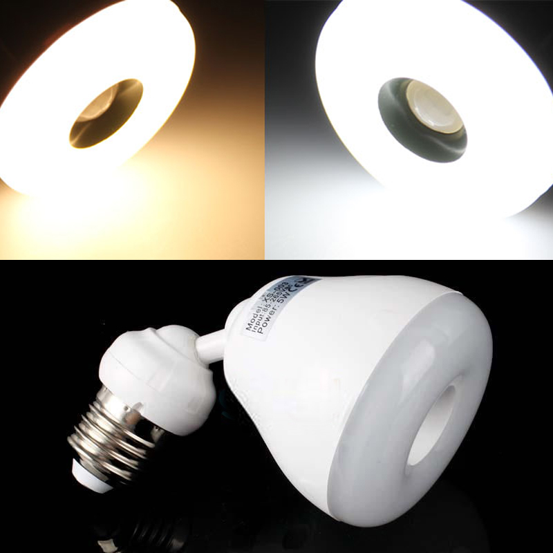 e27 sensor light white warm white led bulb infrared pir motion sensor. Black Bedroom Furniture Sets. Home Design Ideas