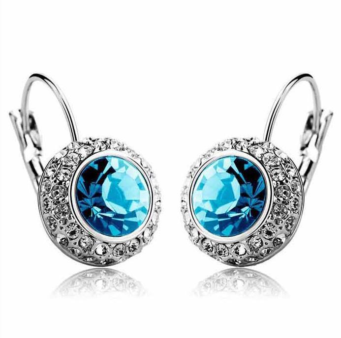 CE25 Fashion Shiny Full Austrian Rhinestone Crystal Earring for Women Wholesale(China (Mainland))