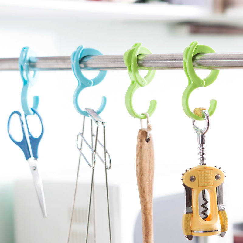 HD Creative green plastic hook S type multi purpose hook kitchen bathroom utility hook wholesale 48g