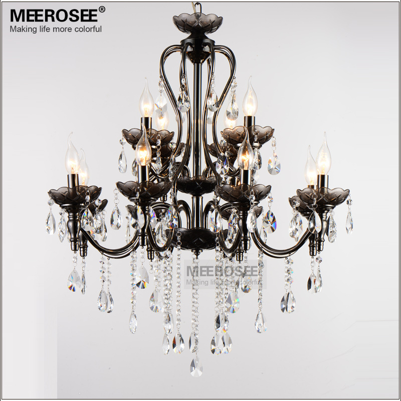 K9 High Quality crystal pendant light Fancy Glass drop lamp Wrought iron hanging lighting fixture flush mounted crystal lustres(China (Mainland))