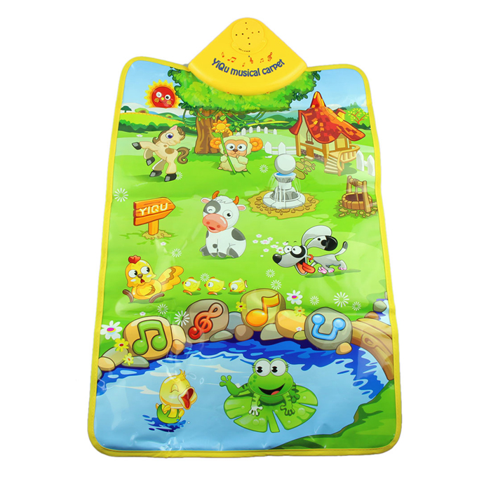 Гаджет  Durable Music Carpet Mat for Kids Farm Animal Fish Shape  Kids Baby Play Mat Education Toys For Tapete Para Bebe #2989 None Игрушки и Хобби
