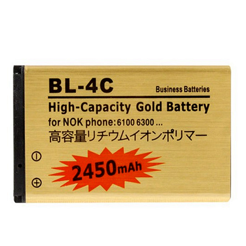Business High Capacity Battery 2450mAh BL-4C For Nokia 6300/X261/1661/ 6260 BL 4C Batteries