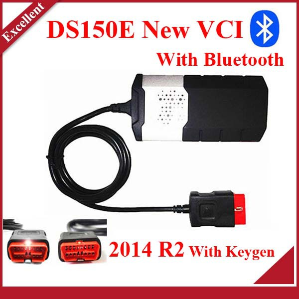 Hot 2014.2 r2 Keygen in CD as gift ! NEW VCI ds150e with bluetooth scanner TCS cdp pro plus LED 3 IN1 DS150 E(China (Mainland))