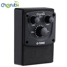 G-Tone Series GT - 1 Acoustic Guitar Preamp System 2 Band EQ Equalizer with Volume Control Musical Instrument Accessory(China (Mainland))