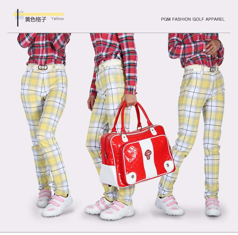 2016 Limited Jl Golf Pants Ms. England Grid Pattern Trousers Shorts British Wild Style Plaid Ultra Breathable High Elasticity