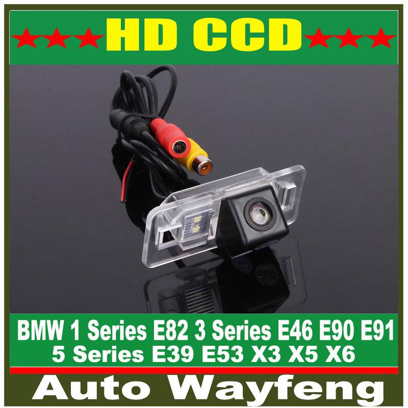 Car Rearview Camera for BMW 1 Series E82 3 Series E46 E90 E91 5 Series E39 E53 X3 X5 X6 Auto Backup Reverse Park kit NightVision(China (Mainland))