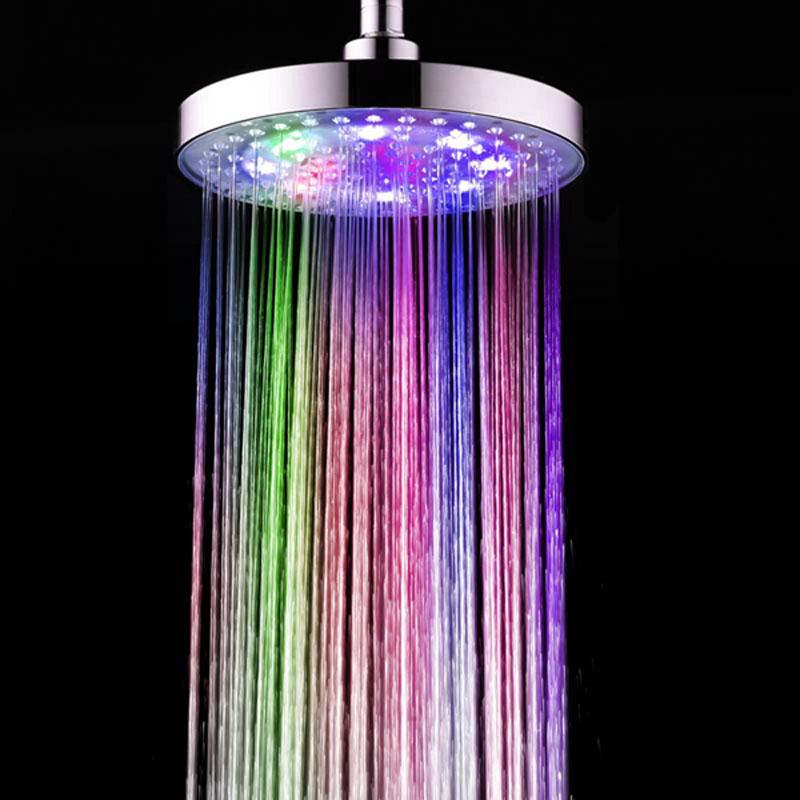 LED Shower Head 8″ inch 12 LED 7 Color
