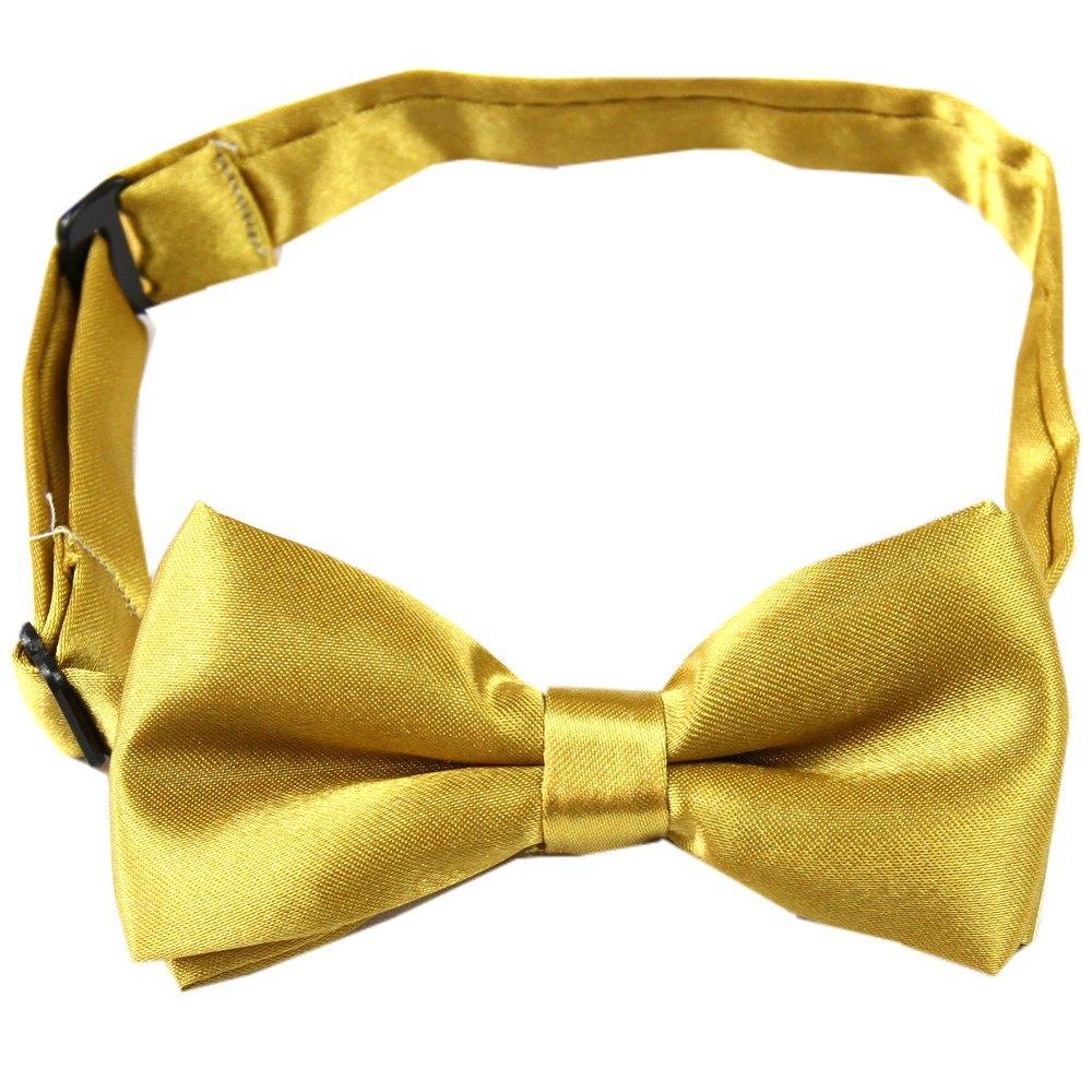 Мальчики дети детям твердые боути предварительно связанные свадьба ну вечеринку золотарник галстук-бабочку bc21