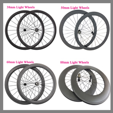 Ultra Light Powerway R13 Hubs 700C 38mm 50mm 60mm 88mm Clincher Tubular Road Bike Carbon Wheels 23mm Width Bicycle Wheelset(China (Mainland))