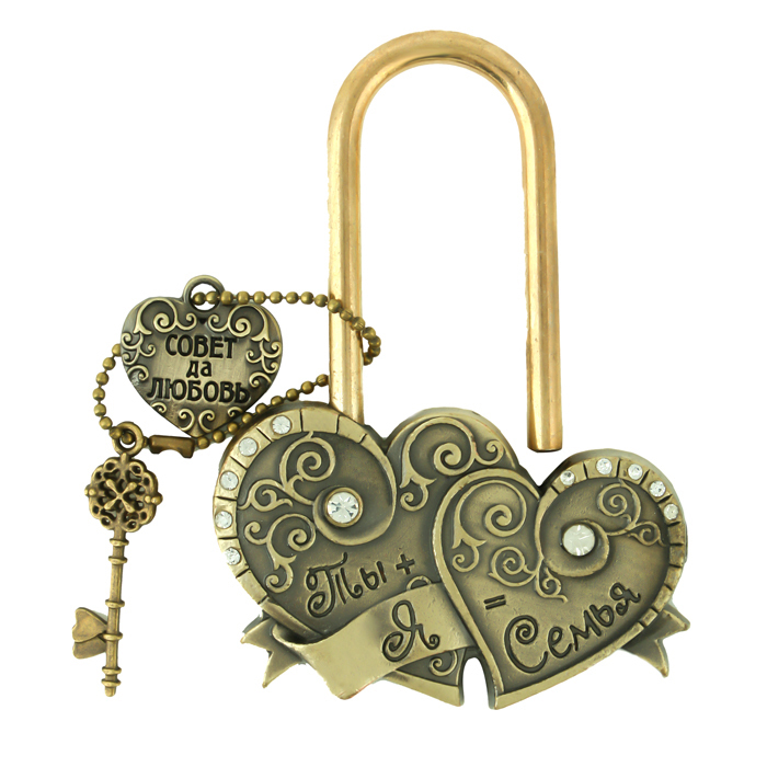 """Heart to heart. key to love memorial locks charm crafts gifts. ceremony decoration,lock bridge.""""You + my castle wedding = 7""""(China (Mainland))"""