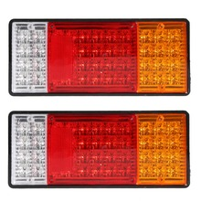 Free Shipping 2pcs HM-022 Rear Lamps Truck Boat Trailer Plastic Taillight  44 LED 12V ME3L(China (Mainland))
