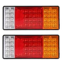 Free Shipping 2pcs HM-022 Rear Lamps Truck Boat Trailer Plastic Taillight  44 LED 12V ME3L(China (Mainland))