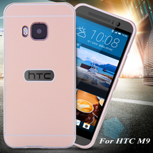 For HTC One M9 Case Ultra Thin Slim 0.5mm Thin Acrylic Metal Aluminum Frame Back Cover For HTC One M9(China (Mainland))