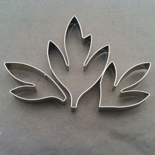 3pcs/set Penoy Flower Leaves Cutters Set, Stainless Steel Fondant Cakes Decorating Tools(China (Mainland))