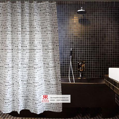 Moda cortina de chuveiro à prova d ' água sedas e cetins qualidade elegante terylene alta qualidade ramarose cortina de chuveiro eco(China (Mainland))