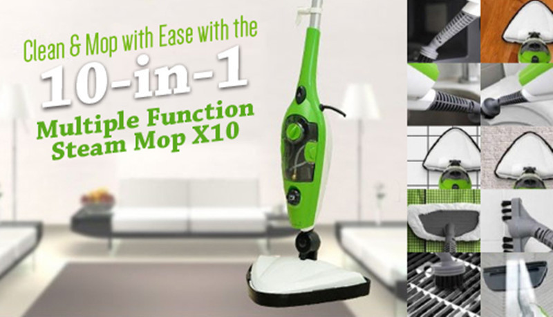 Free shipping 4set/lot steam mop Multi funtion steam mop 10 in 1 steam mop(China (Mainland))
