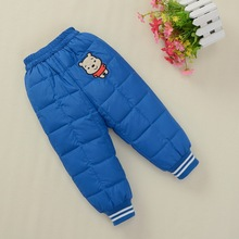 2015 HOT Fashion Baby Boys Winter Leggings Autumn Children Warm Girls Infant Harem Down Pants Pantalones Toddler Kids Trousers
