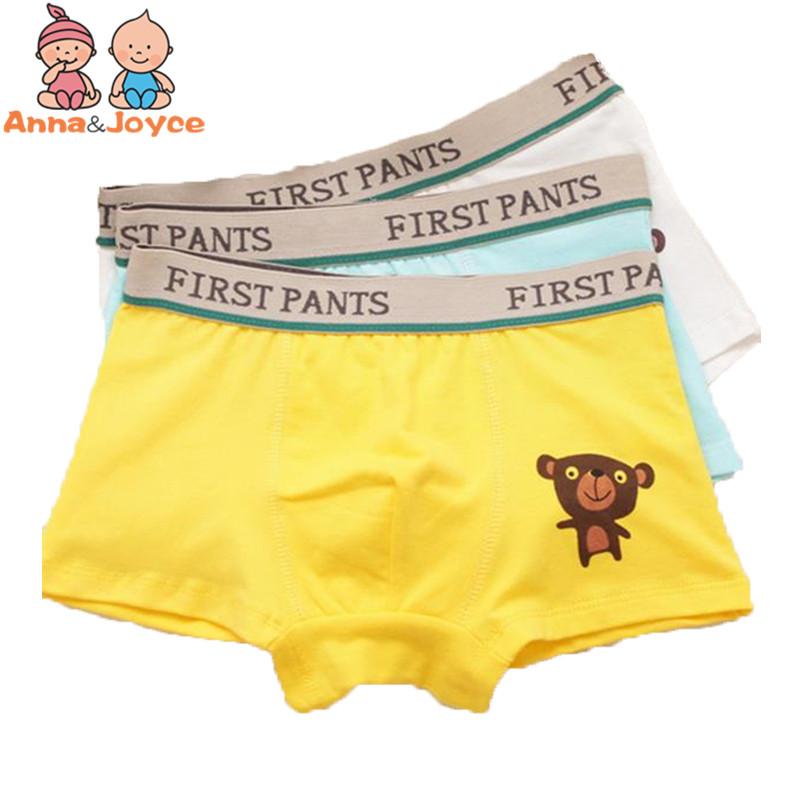 4pcs/lot Boys boxer underwear kids boxer panties cotton underpants baby boys clothes for3-9Y