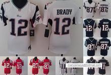 2016 Women Ladies New England Patriots,12 Tom Brady 87 Rob Gronkowski 11 Julian Edelman,100% stitched logo(China (Mainland))