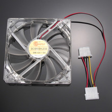 1PCS GDT Blue LED PC Computer Case Heatsink Cooler Cooling Fan DC 12V 4P 120mm 120*120x25mm 12025S(China (Mainland))