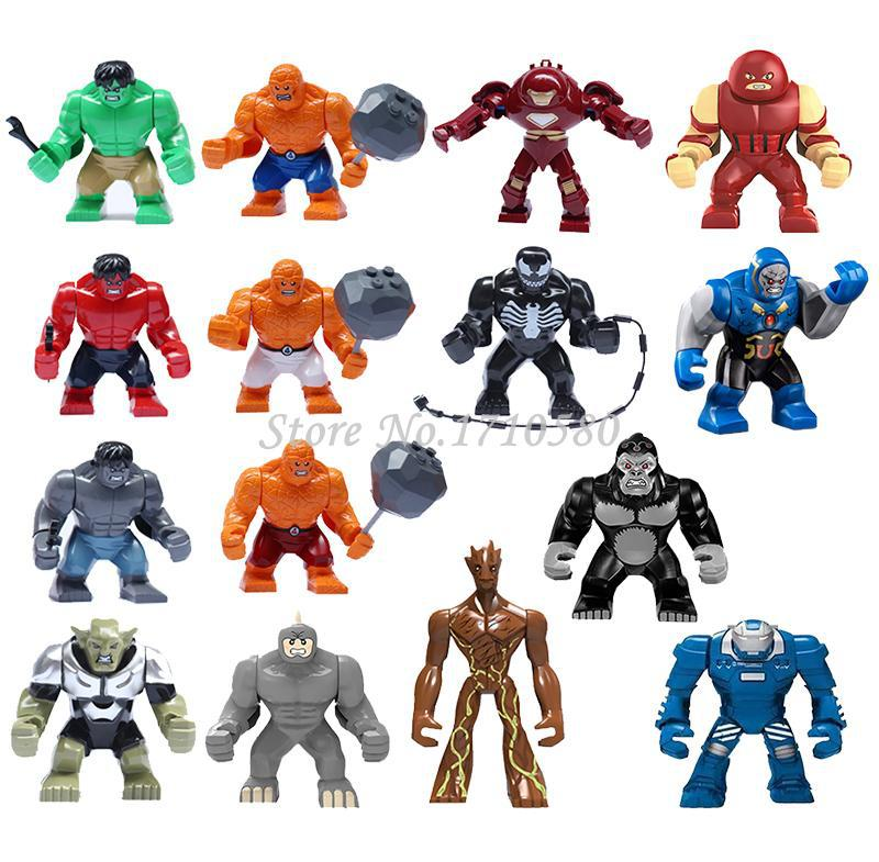 Hulk Ultron DARKSEID GORILLA GROOD MARK 38 IGOR Big Figures Toys Lego Compatible Marvel Super Hero The Avengers Building Block(China (Mainland))