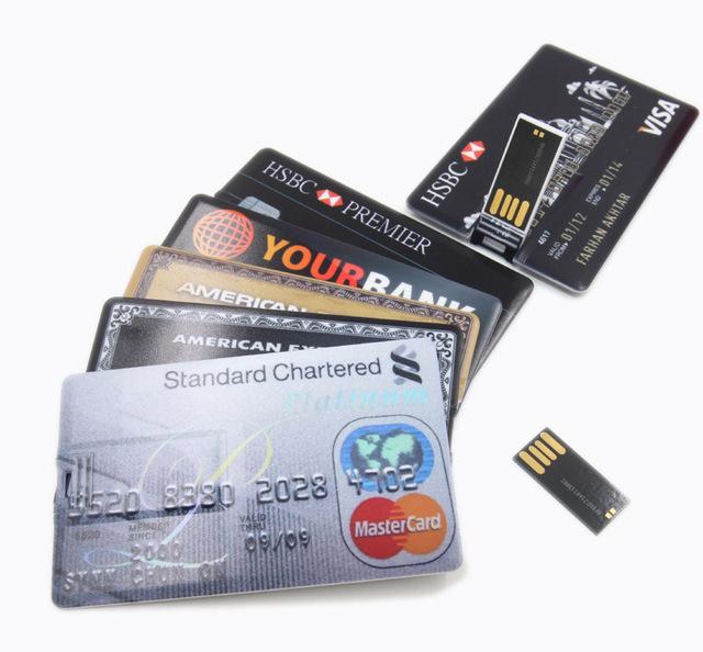 Real Capacity 2016 New Waterproof Super Slim Credit Card USB Flash Drives 32GB pen drive 4G/8G/16G Bank Card Shape Memory Stick(China (Mainland))