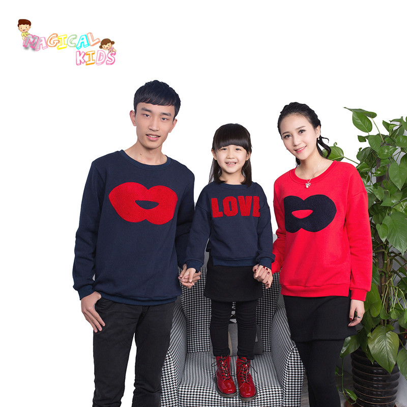 2016 New Family Matching Clothes Father Daughter Outfits Sweatshirt Fashion Father and Son Clothes Sportswear Clothing(China (Mainland))