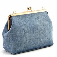 Women messenger bags brand fashion 2016 new Korean fashion light denim bag soft chain Frame wallet shoulder bag casual handbag