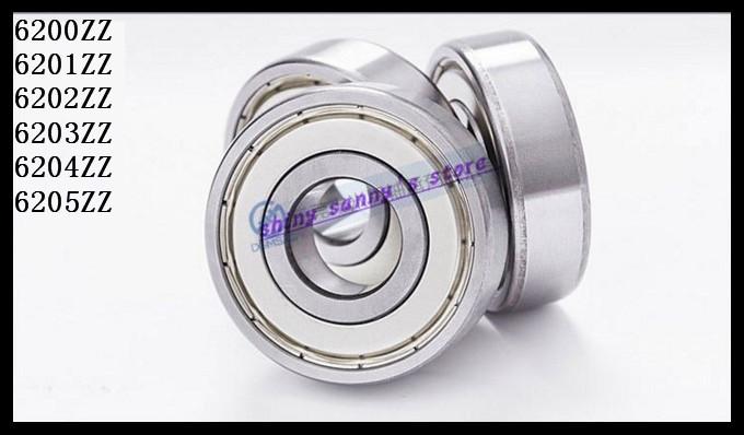 6pcs/Lot 6205ZZ 6205 ZZ 25x52x15mm Mini Ball Bearing Miniature Bearing Deep Groove Ball Bearing Brand New