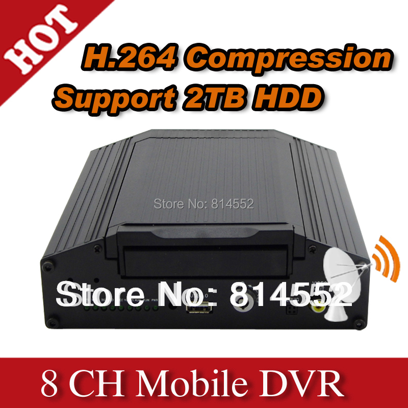Hottest 8 Channel HD Vehicle video recorder car dvr Mobile dvr for Double decker Bus Truck-H808 Series(China (Mainland))