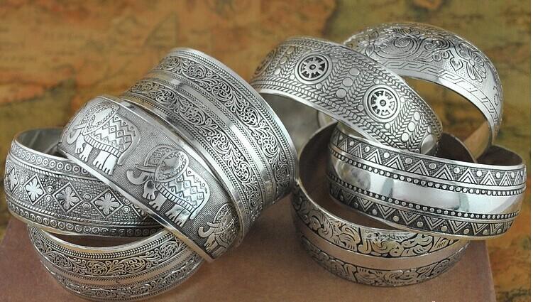Bohemian-Antalya-bangle-antique-Silver-plated-carve-pattern-Statement-Boho-Coachella-Festival-Turkish-hand-Jewelry-elephant (5)