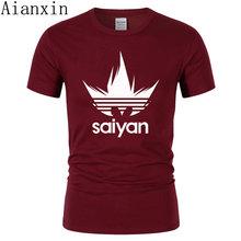 Для взрослых Аниме Dragon Ball Z Super Saiyan футболка Новинка 2017 Лето 100% хлопок Сон Гоку мужская футболка Camisetas Hombre для фанатов(China)